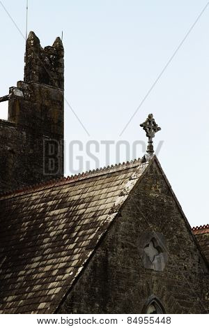 Low angle view of a church, Adare, County Limerick, Republic of Ireland