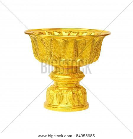 Golden Tray For Buddhist Libation
