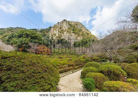 Mifuneyama Rakuen Garden In Saga, Northern Kyushu, Japan