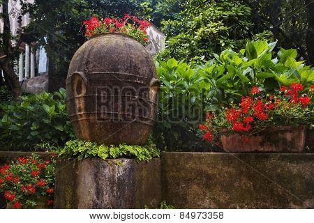Plants in the garden, Villa Cimbrone, Ravello, Province of Salerno, Campania, Italy