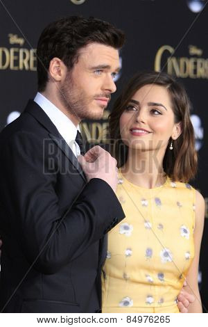 LOS ANGELES - MAR 1:  Richard Madden, Jenna Coleman at the