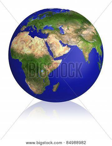 Earth Planet Globe Map.
