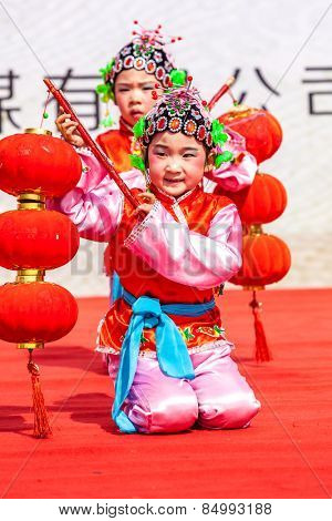 DEQING,CHINA - MAR 2: Dragon dance performances in Lantern Festival on March 2th 2015 in Deqing.Lantern Festival is a traditional festival of Chinese.