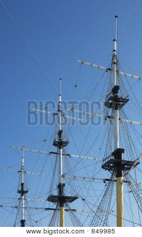 masts of frigate
