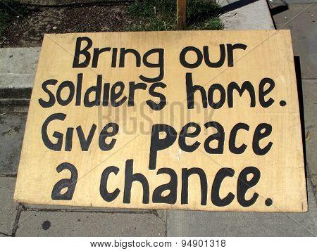 Antiwar peace sign