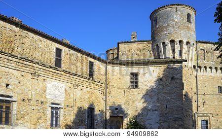 La Morra castle, Langhe. Color image