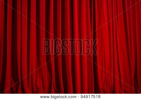 Theatre Curtain Of Red Velvet