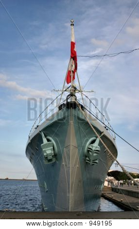 Bow Of An Old Battle Ship