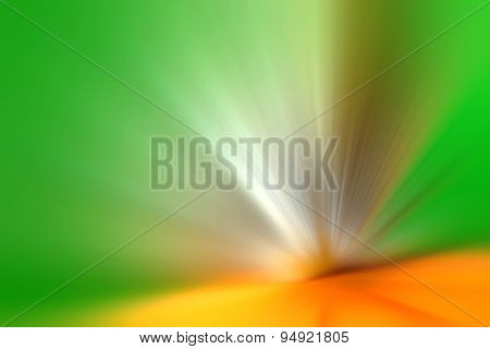 abstract green and orange acceleration speed motion background poster