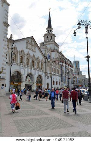 Moscow, Russia - 17.06.2015.  Kazansky Railway Station. Built In 1862.