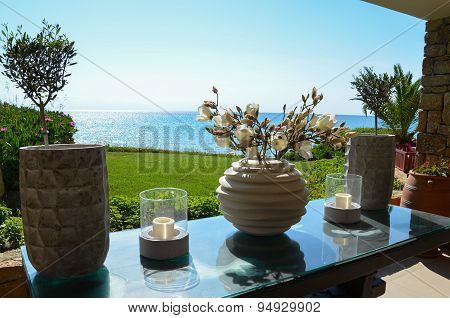 Charming Decoration Facing The Mediterranean Sea