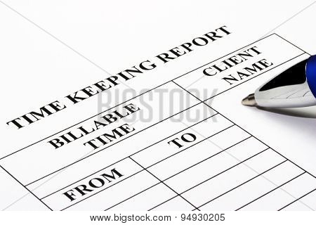 Legal Timekeeping Report