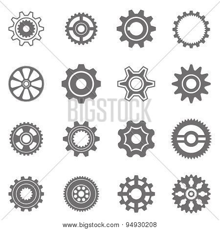 gear wheels in black and white