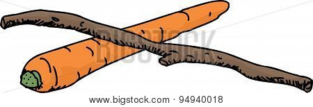 Isolated Carrot And Stick