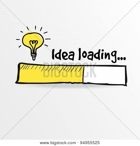 Loading Bar With Bulb, Creativity, Big Idea, Vector