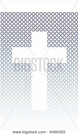 Blue Circles Gradient Cross