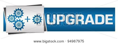 Upgrade With Gears Blue Grey Horizontal