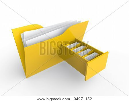 3d file folder with file drawer