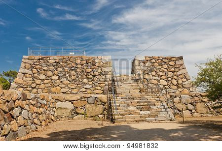 Foundation Of The Main Keep Of Takamatsu Castle, Japan