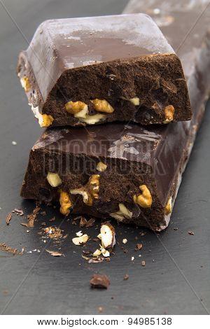 Very Thick Brick Of Chocolate With Walnut