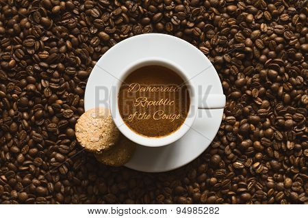 Still Life - Coffee Wtih Text Democratic Republic Of The Congo