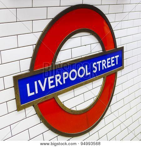 Liverpool Street Underground Station