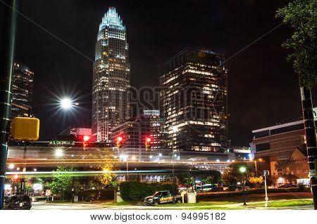 Charlotte, NC. United States at night