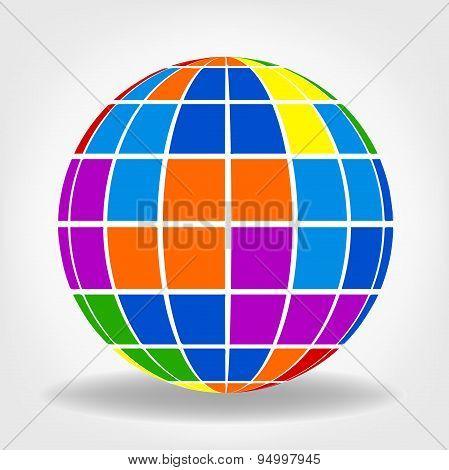 Globes symbol. Vector illustration.