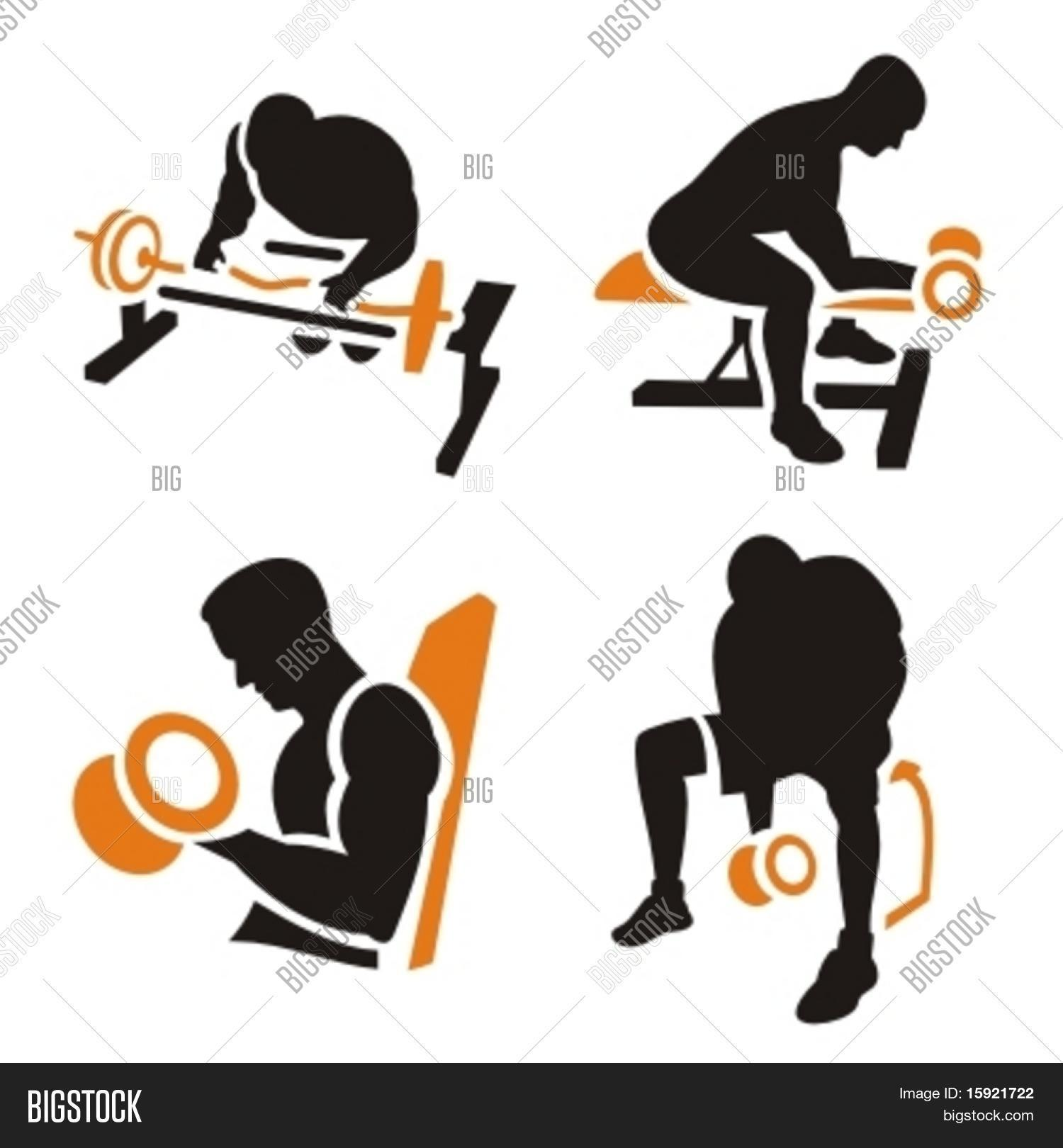 Fitness vector icons photo free trial bigstock