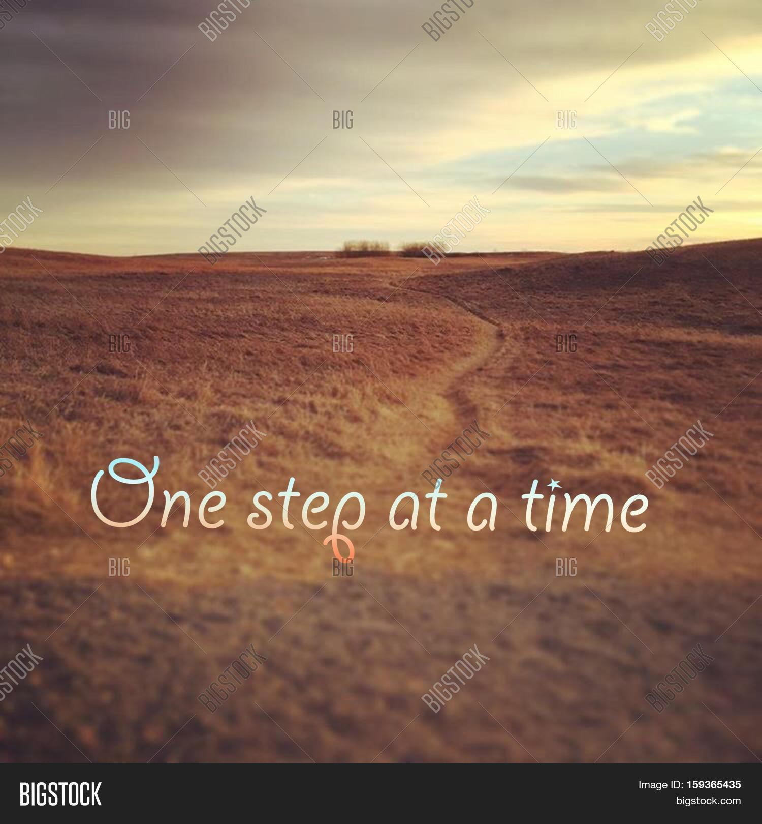 inspirational quote on image photo trial bigstock