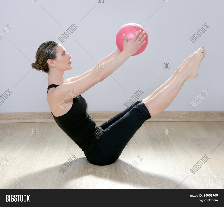Woman Pilates Chair Exercises Fitness Stock Photo: Pilates Woman Image & Photo (Free Trial)
