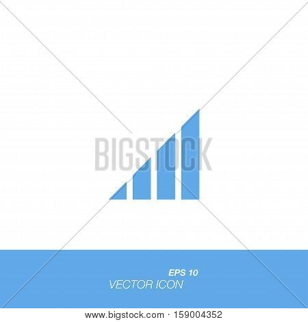 Signal icon in flat style isolated on white background. Signal symbol for your design and logo. Vector illustration EPS 10.