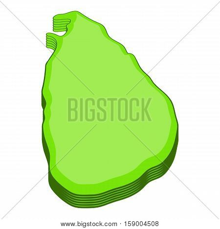 Sri lanka map icon. Cartoon illustration of sri lanka map vector icon for web