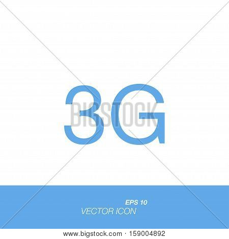 3G icon in flat style isolated on white background. 3G symbol for your design and logo. Vector illustration EPS 10.