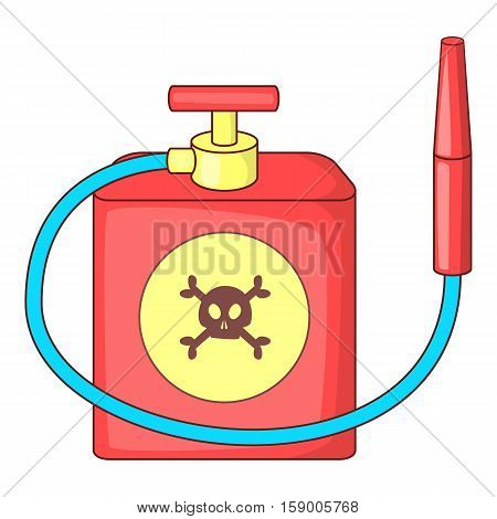 Red insecticide spray icon. Cartoon illustration of red insecticide spray vector icon for web