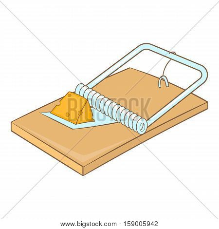 Mousetrap icon. Cartoon illustration of mousetrap vector icon for web