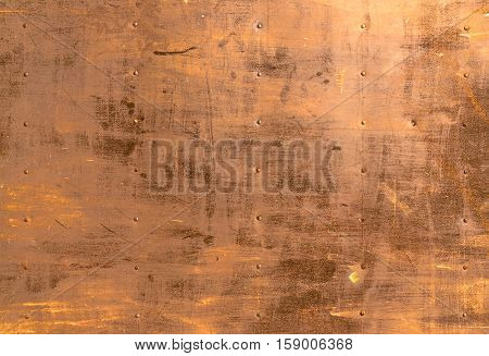 Abstract background with a orange and yellow texture of rust metal