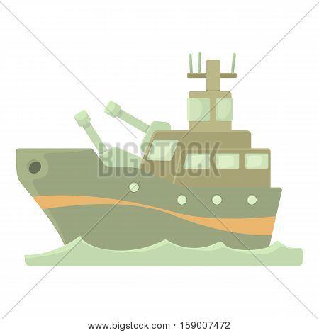 Battleship icon. Cartoon illustration of battleship vector icon for web
