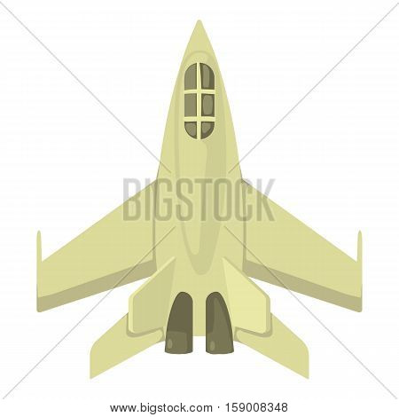 Military jet icon. Cartoon illustration of military jet vector icon for web