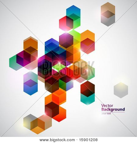 Colorful cubes.