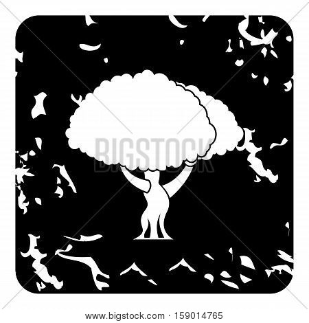 Young tree icon. Grunge illustration of young tree vector icon for web
