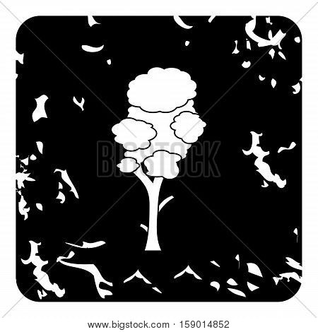 High tree icon. Grunge illustration of high tree vector icon for web