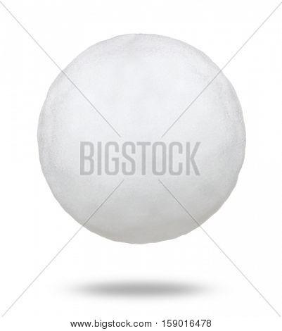 Snowball isolated on white background