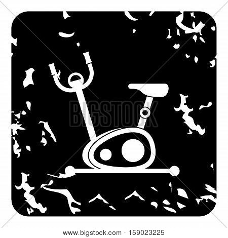 Exercise bicycle icon. Grunge illustration of exercise bicycle vector icon for web