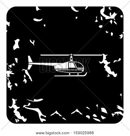 Helicopter icon. Grunge illustration of helicopter vector icon for web