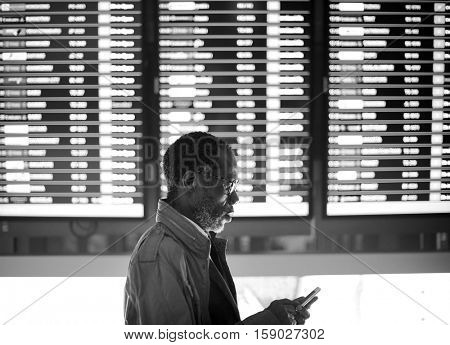 Timetable Business Travel Arrival Departure Trip Concept