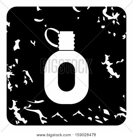 Tourism flask icon. Grunge illustration of tourism flask vector icon for web