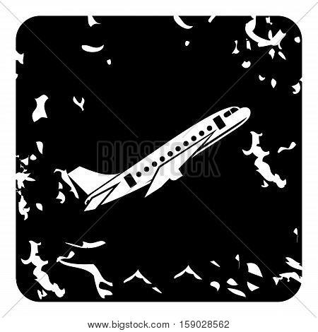Airplane icon. Grunge illustration of airplane vector icon for web