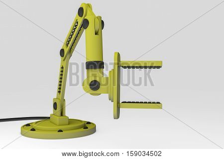 A robot arm for precise, faster work (3d rendering)