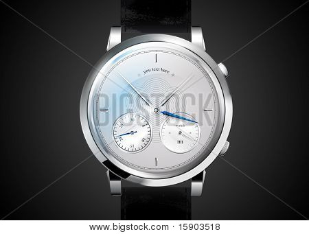 watches an icon with the clock face. EPS10, transparency